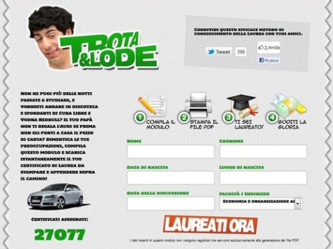 Home page di Trotaelode.com [screen-shot]