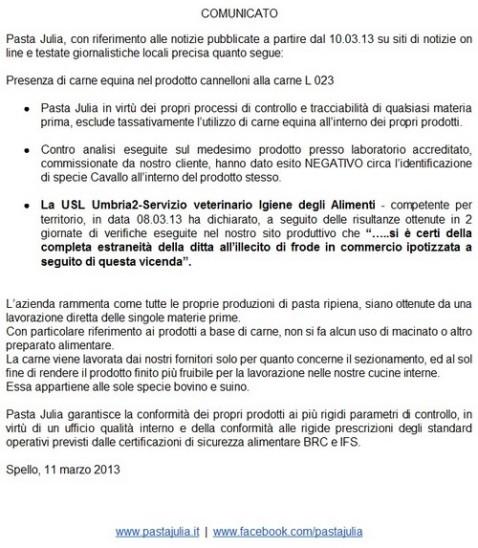 comunicato_pasta_julia
